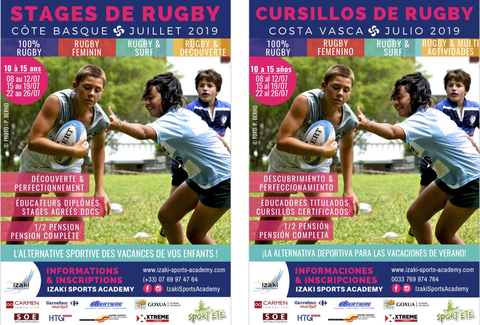 Stage rugby été